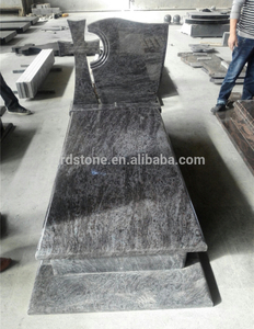 Hungary style India Blue polished granite headstone