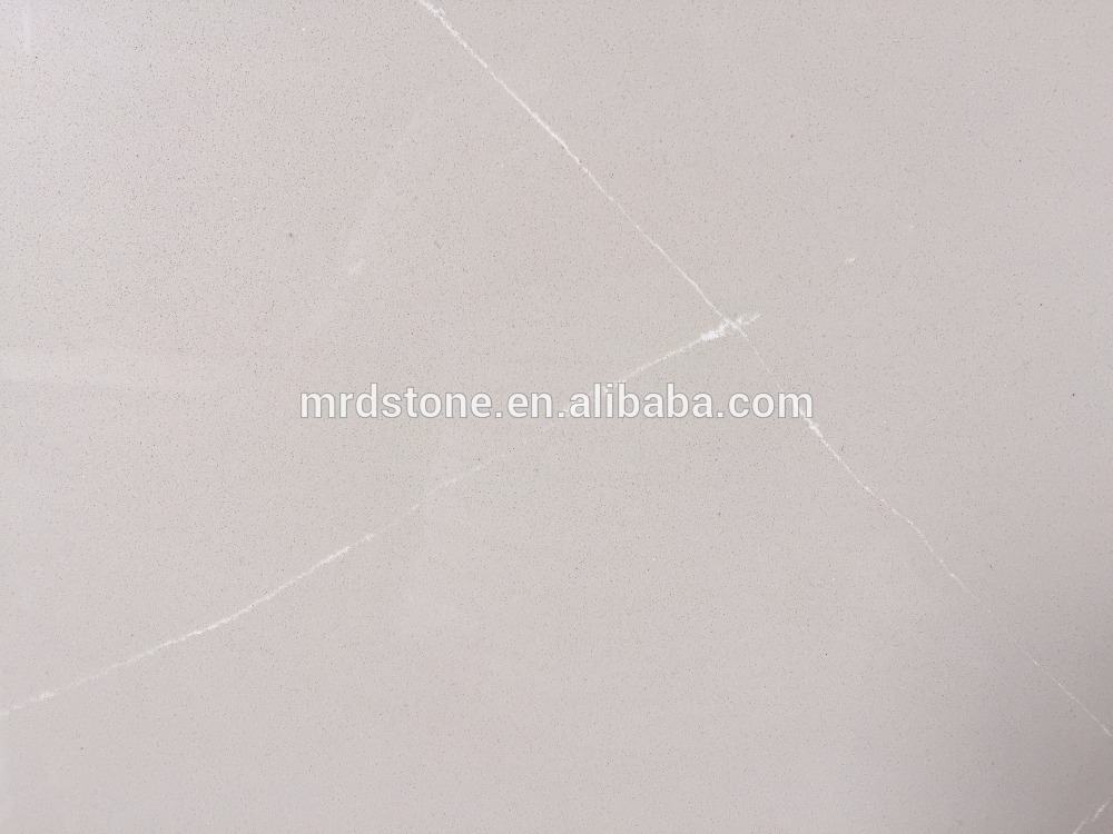 RQ513 High quality artifical beige quartz stone slab countertops