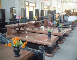 Wholesale Italy Style Natural Stone Red Granite Tombstone