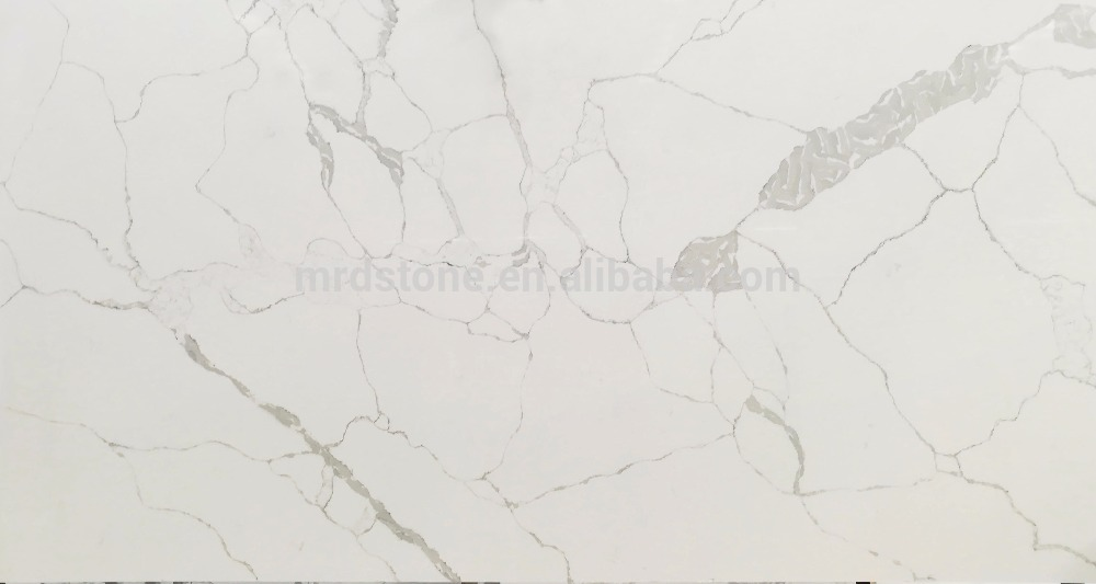 Cheap Price Artificial Largest Size Calacatta Stone White Quartz Slabs
