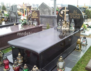 Wholesale Chinese Granite India Black Poland Headstone