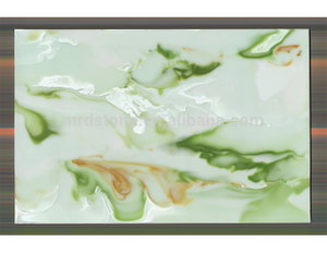 High Quality ISO9001 Approved Artificial Stone Slab Green Onyx Price