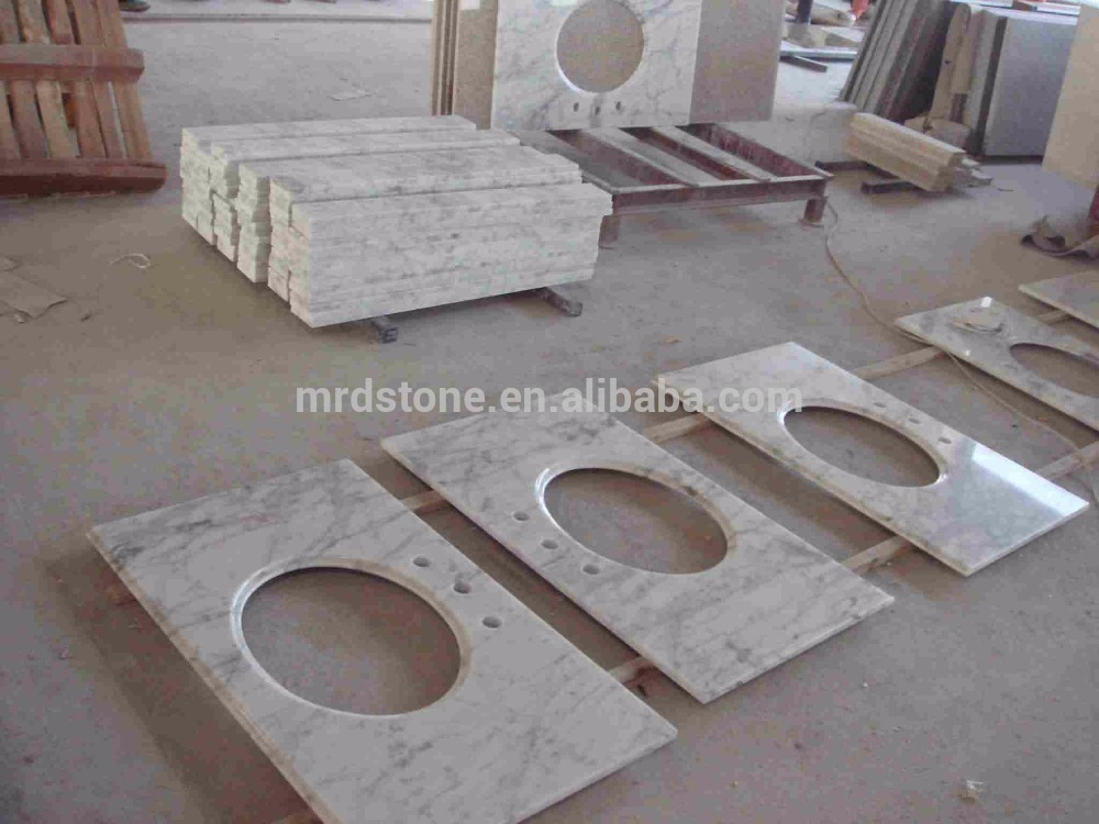 Modern Design Italy Carrara Marble Commercial Bathroom Vanity Tops Marble Countertop