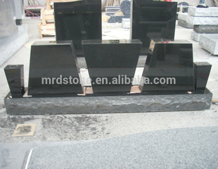 Factory Price American Style Granite Cemetery Black Small Blank Tombstones