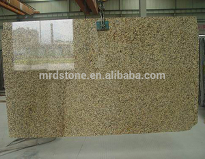 Wholesales Polished Natural Stone Yellow Tiger Skin Granite Slab