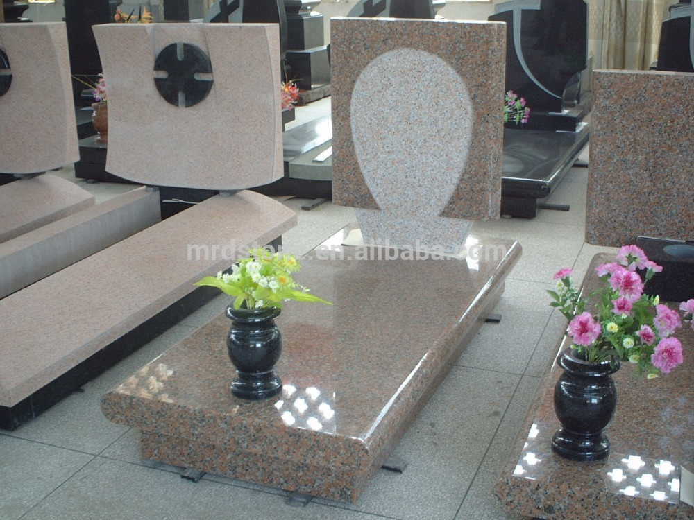 Italy style polished granite headstone