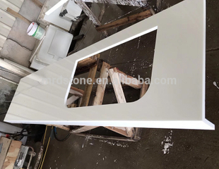 High Quality White Nano Glass Quartz Countertop