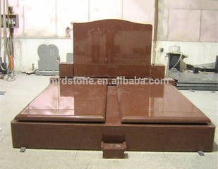 European Style Imperial Red Granite Tombstone