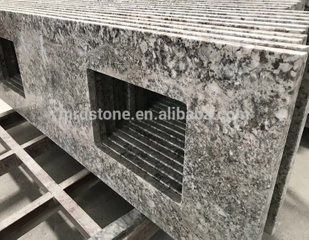Chinese Prices Per Meter Nature Stone Kitchen Countertop Alaska White Granite
