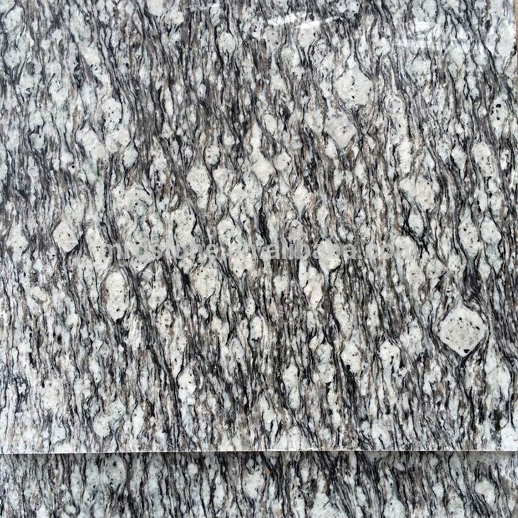 Wholesale Spray White Polished Granite Floor Tiles For Living Room