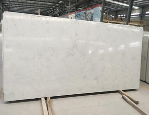 High Quality Slab Type Artificial White Raw Quartz Stone Price For Countertop