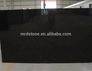 Chinese wholesale solid color shanxi black granite slabs polished