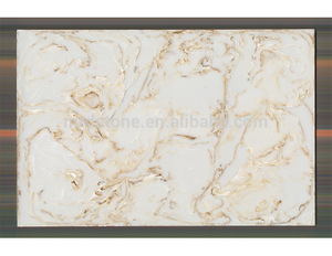 SGS Certified Golden Grain White Color High Quality Artificial Onyx