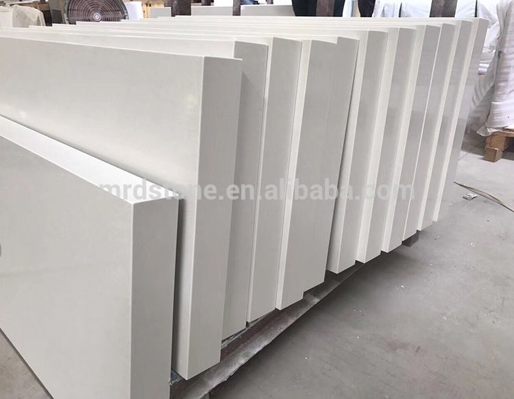 Wholesale Custom Design Quartz Fine Grain White Countertop For Kitchen