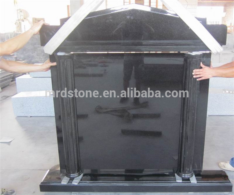 Excellent in quality professional design black cross granite tombstone