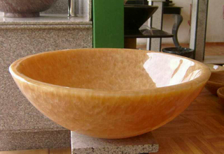 Yellow Honey Onyx Sink for Home Decoration