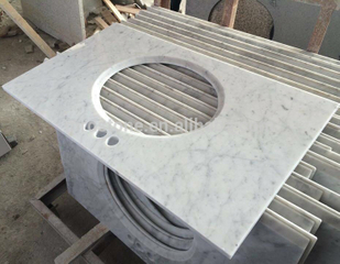 Top Quality Customized Brothroom Vanity Top Marble Carrara Countertop