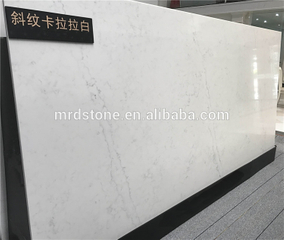 High quality Twill calacatta white quartz slabs