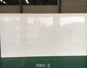 Factory Direct Artificial Stone Grey Veins White Calacatta Quartz Slabs