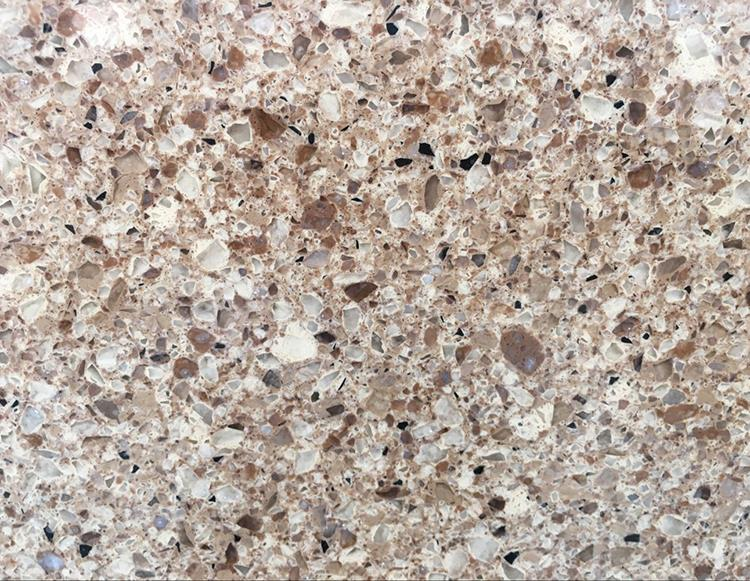 100% Export Standard Polished Truffle Yellow Slab Artificial Quartz Stone For Vanity Table