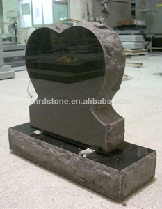 Wholesale Carving Stone Black Granite Heart Shaped Headstone