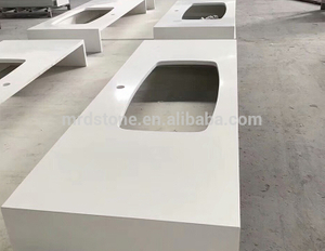 Factory Price Prefabricated Kitchen Pure White Quartz Countertop
