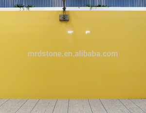 Factory Supplier SGS Certified Artificial Pure Yellow Quartz Stone