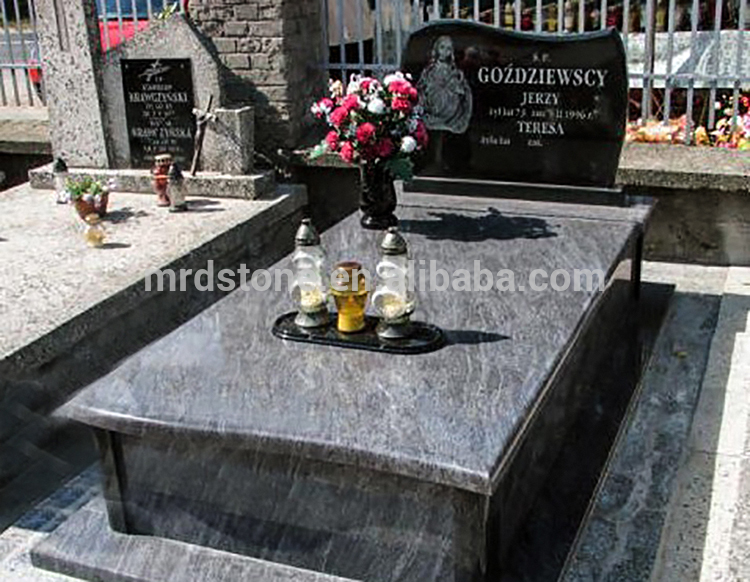 Orion Natural Polished Granite Poland Gravestone With Character Image