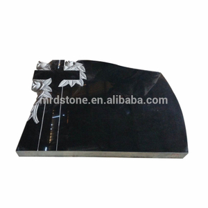 Alibaba hot selling shanxi black granite monument/large headstone
