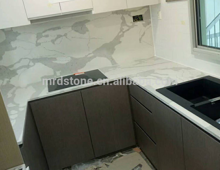 High Quality Artificial Stone White Carrara Quartz For Countertop