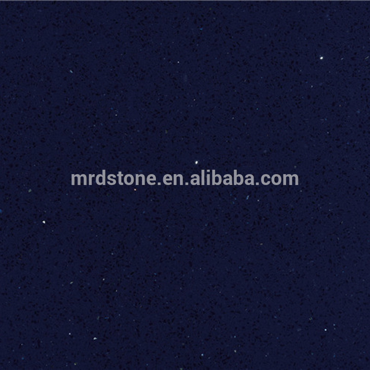 Chinese Artificial Starlight Crystal Blue Quartz Stone For Countertop