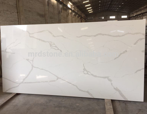 High Quality Polished White Slab Artificial Calacatta Quartz Stone