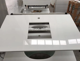 Wholesale Nano Glass White Quartz Stone Countertop