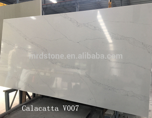 Factory Direct SGS Certified Artificial White Quartz Stone Price With Grey Veins