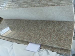 G687 Peach Red Granite Stair Tread with Polished
