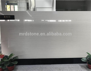 Top Grade 100% Export Standard Artificial Straight Lines White Quartzite Slabs
