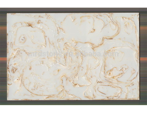 Factory Direct Golden Grain White Artificial Onyx Price