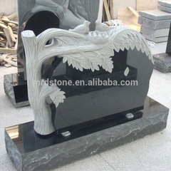 Wholesale Prices American Style Beautiful Carved Tree Headstone With Trees