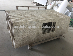 Chinese Natural Stone Kitchen Yellow Granite G682 Countertop