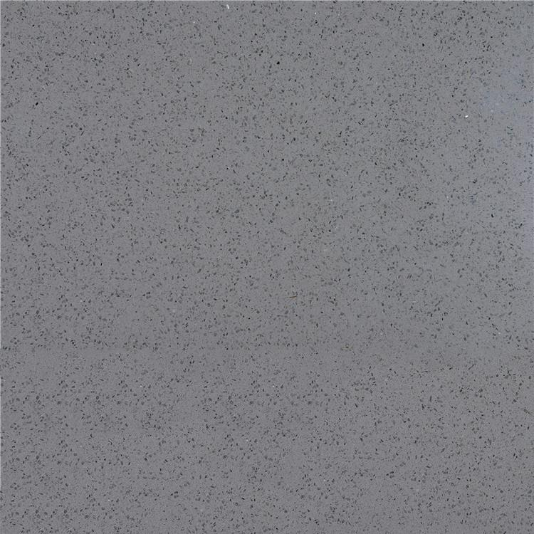 Artificial Polished Light Crystal Grey Quartz For Kitchen Countertop