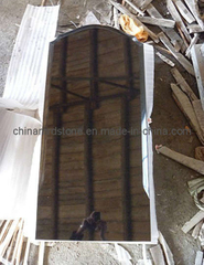 Customize Design Absolute Black Granite Russian Style Upright Monument