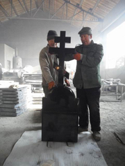 Cross Monument with Hebei Black Granite