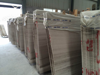Marble Wooden Grey Big Slabs for Decoration