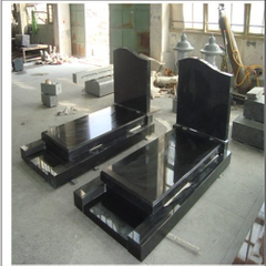 Absolute Black Granite Tombstone for Poland or Hungary Market
