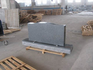 Single Monument with Dark Grey Granite G654