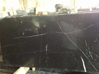Chinese Natural Black Marble Slab with Nero Marquina Tile (MRD)