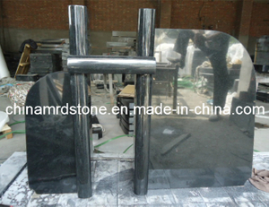 All Polished Shanxi Black Granite Headstone with New Design