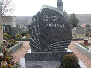 Custom Design Bahamas Blue Granite Funeral Monument