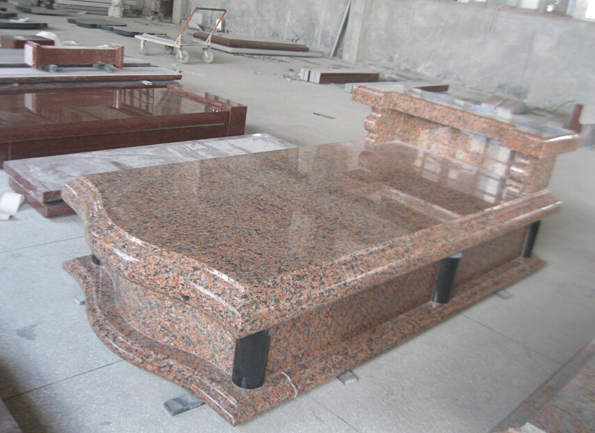 Maple Red Granite Tombstone for European Market