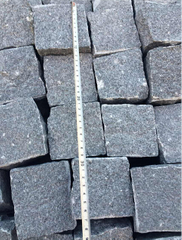 Popular G654 Granite Cobble Stone for Plaza or Garden